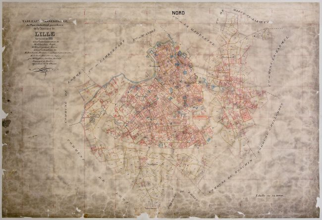 Plan cadastral Archives Municipales de Lille © Thomas Karges